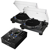 Audio TechnicaAT-LP140XP-BK (La paire) + Pioneer DJM S3