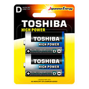 ToshibaPiles LR20 - Pack de 2