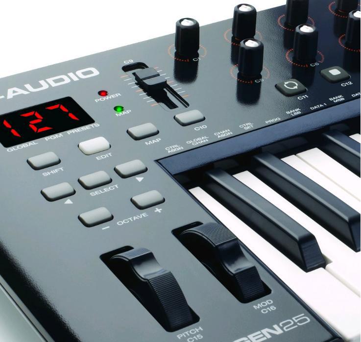 oxygen 25 iv clavier ma tre m audio univers sons. Black Bedroom Furniture Sets. Home Design Ideas